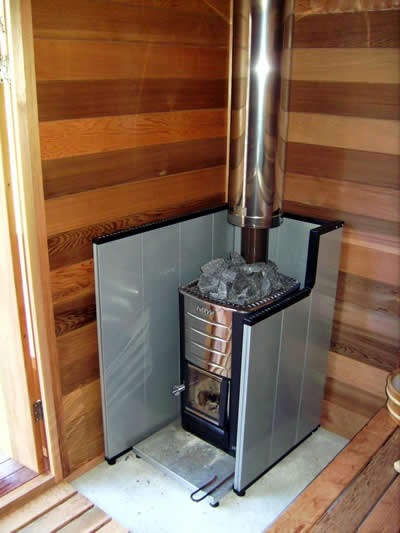 how to build a wood fired sauna stove